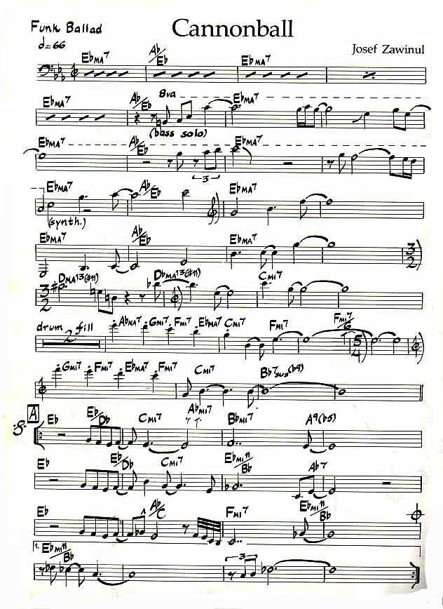 tune up jazz standard pdf